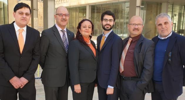 Partit Demokratiku officials after having co-opted five new members to its executive